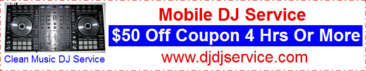 $50 Off Mobile DJ Service Coupon