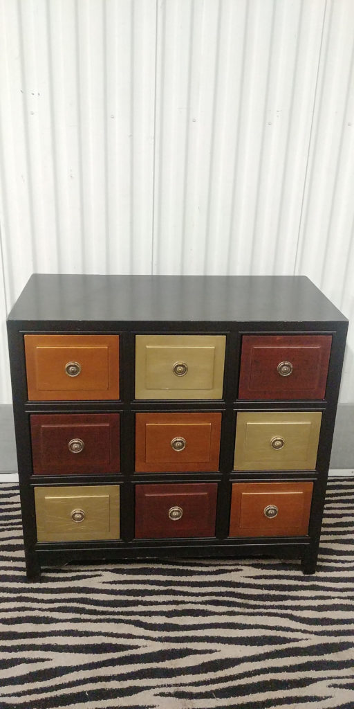 Black 9 Drawer Dresser